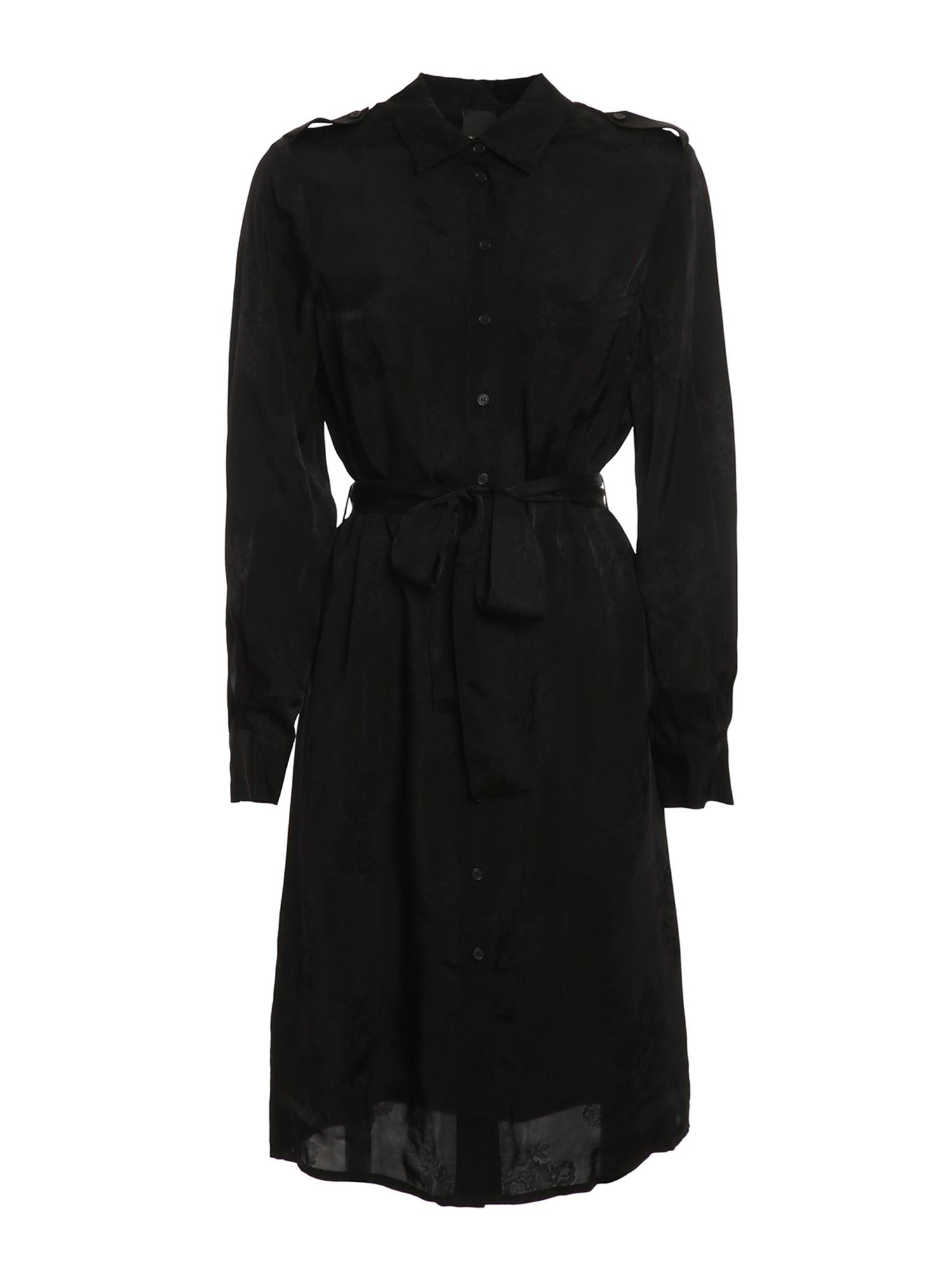 Pinko Dresses PINKO ALICIA SHIRT DRESS IN BLACK