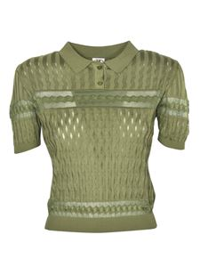 Missoni - Multi-stitched polo shirt in green