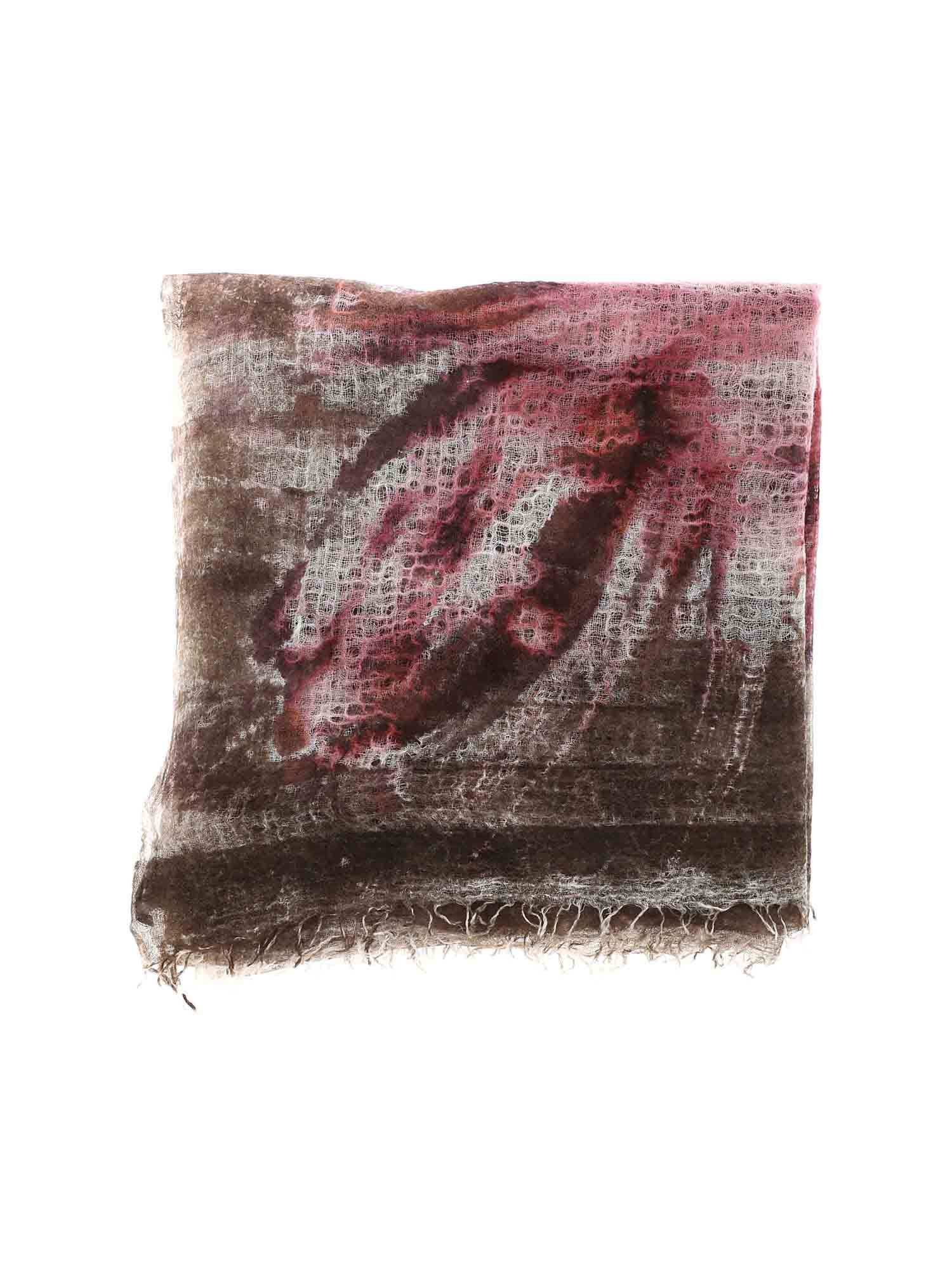 Avant Toi PEONY PATTERN CASHMERE STOLE IN GREY