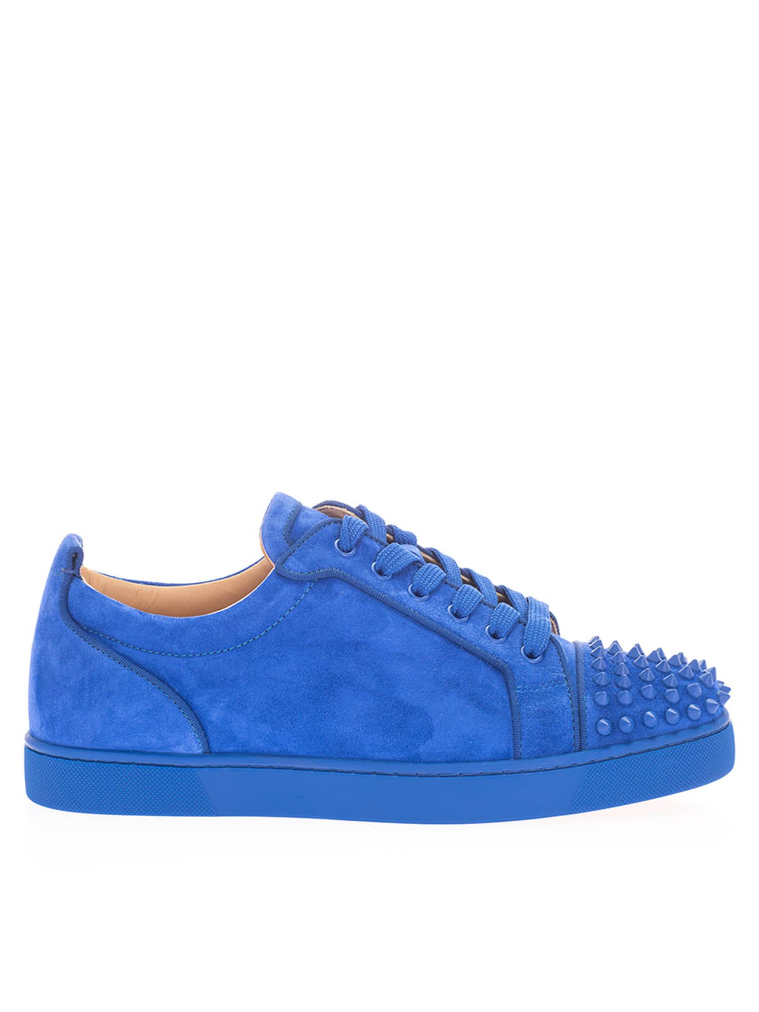Christian Louboutin Sneakers JUNIOR SPIKES ORLATO SNEAKERS IN ELECTRIC BLUE