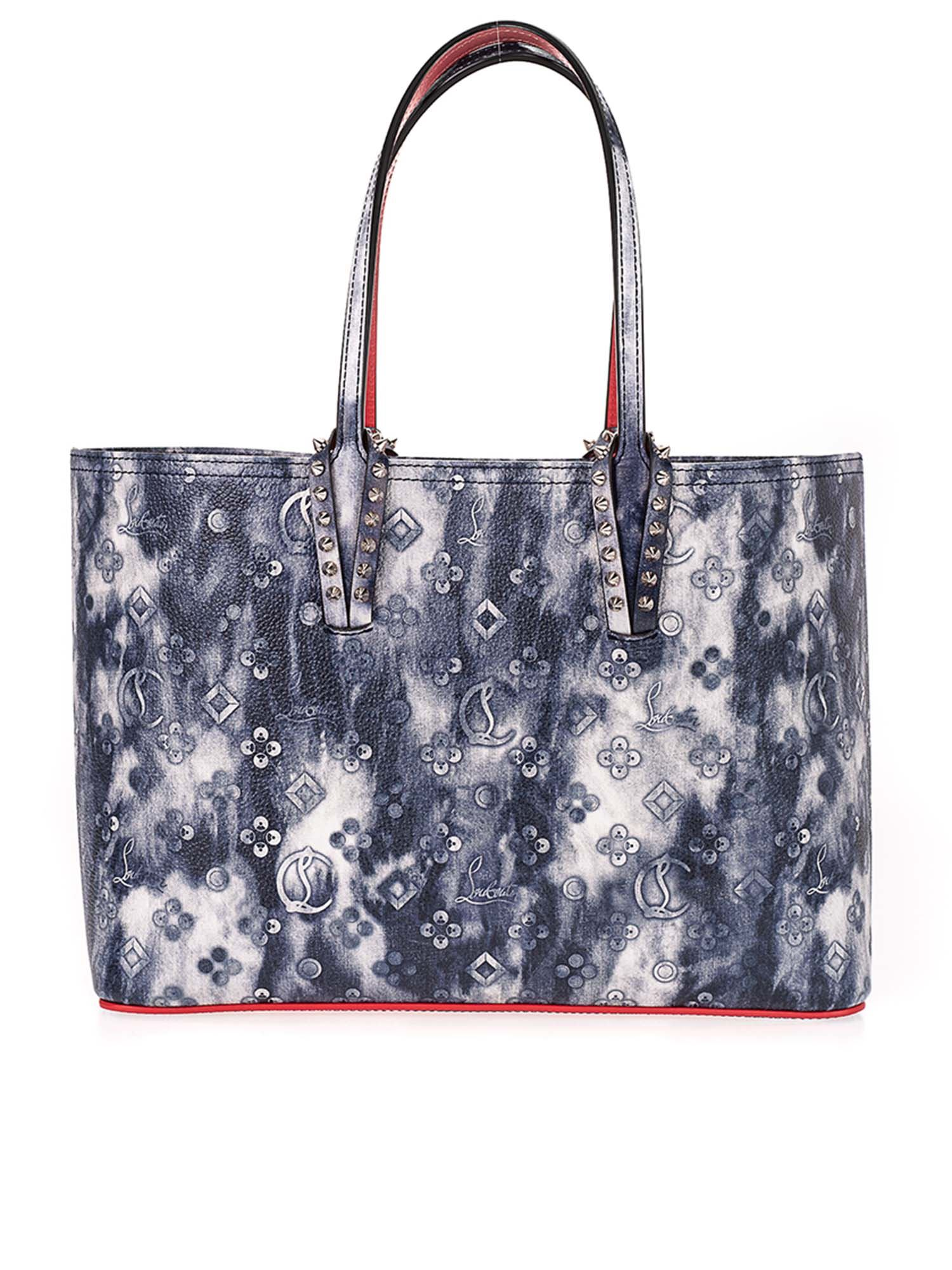 Christian Louboutin Leathers CABATA SMALL BAG IN SHADES OF BLUE