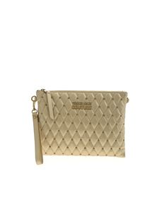 Versace Jeans Couture - Studs quilted clutch bag in gold color