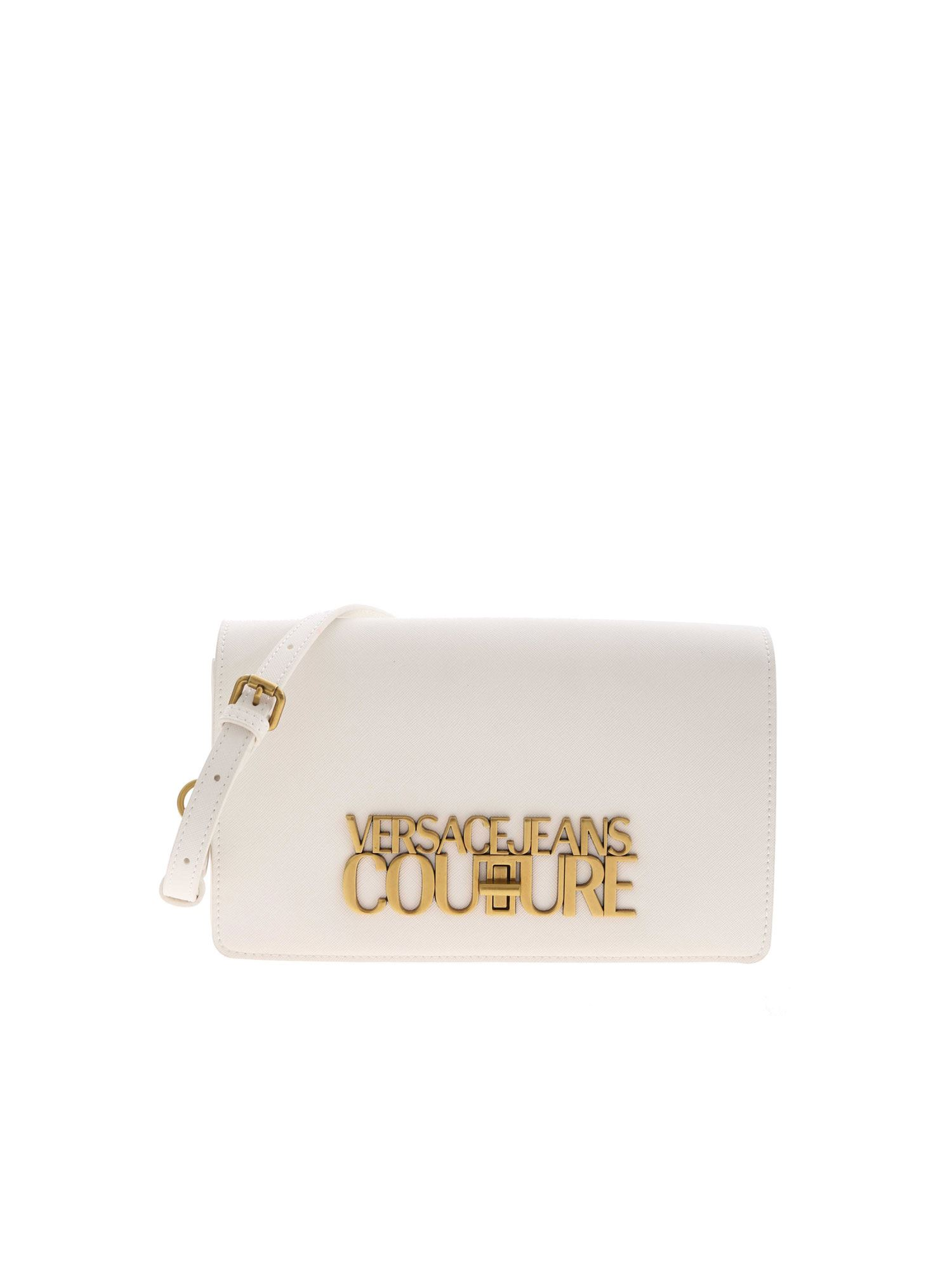 Versace Jeans Couture Crossbody bags LETTERING LOGO BAG IN WHITE
