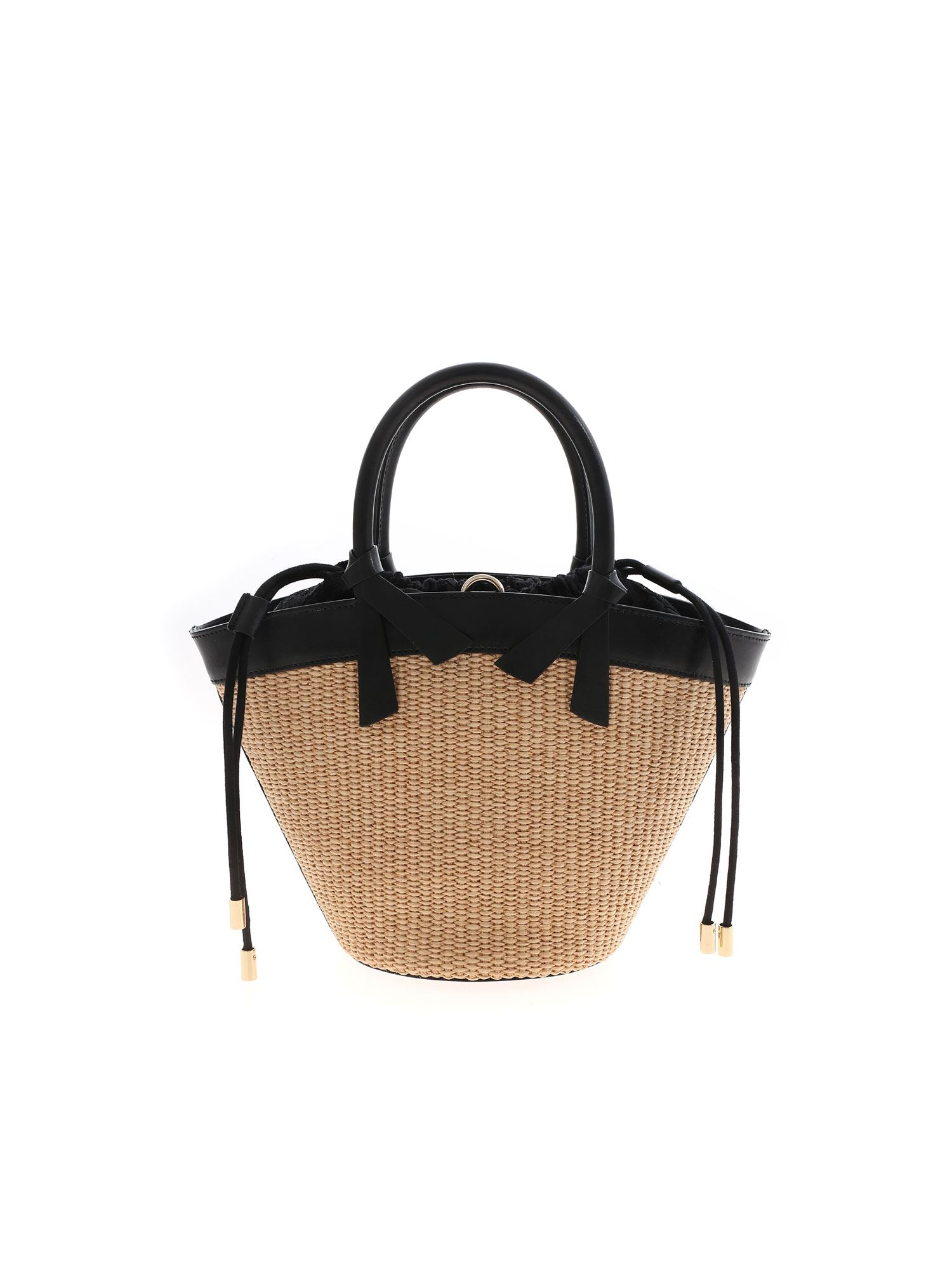 Ermanno Scervino Leathers JOLIE SMALL BAG IN BEIGE AND BLACK