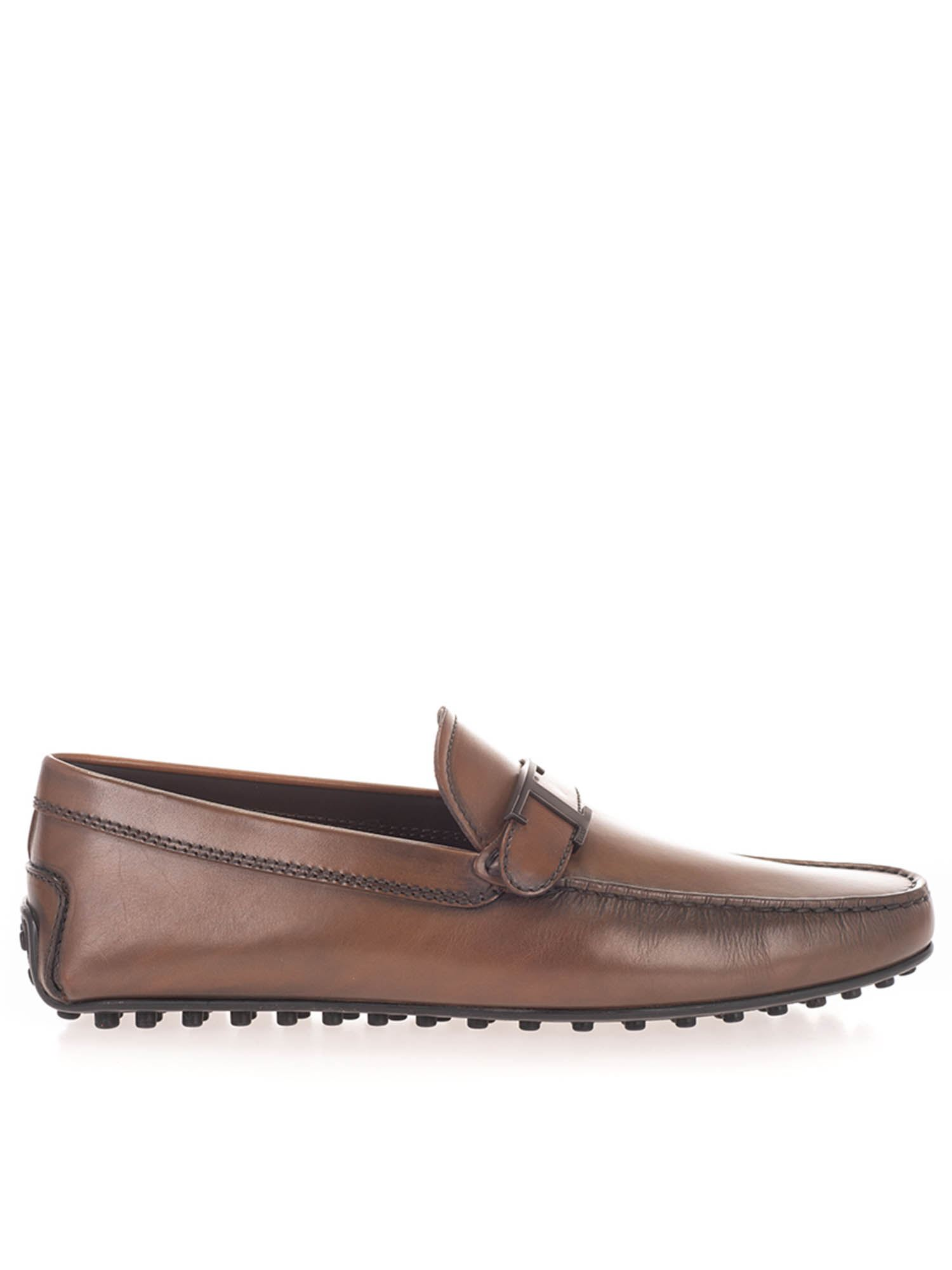 Tod's Leathers LEATHER LOAFERS IN BROWN