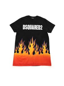 Dsquared2 - Flames and logo print T-shirt in black