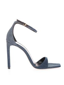 Saint Laurent - Denim sandals in blue