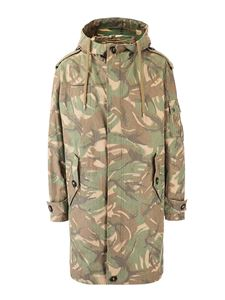 Saint Laurent - Camouflage parka in green
