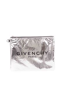 Givenchy - Logo clutch bag in silver color