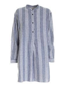Woolrich - Striped shirt in white and blue