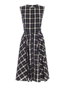 Woolrich - Checked dress in blue and cream color