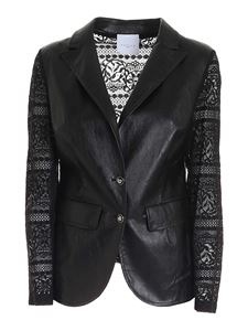 Gaelle Paris - Lace inserts jacket in black