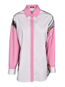Versace - Printed shirt in pink and white