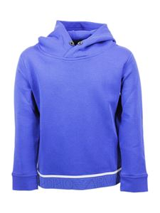 Emporio Armani - Branded hoodie in blue