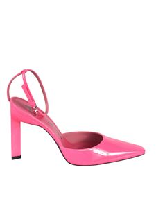 The Attico - Amber slingback pumps in fluo pink