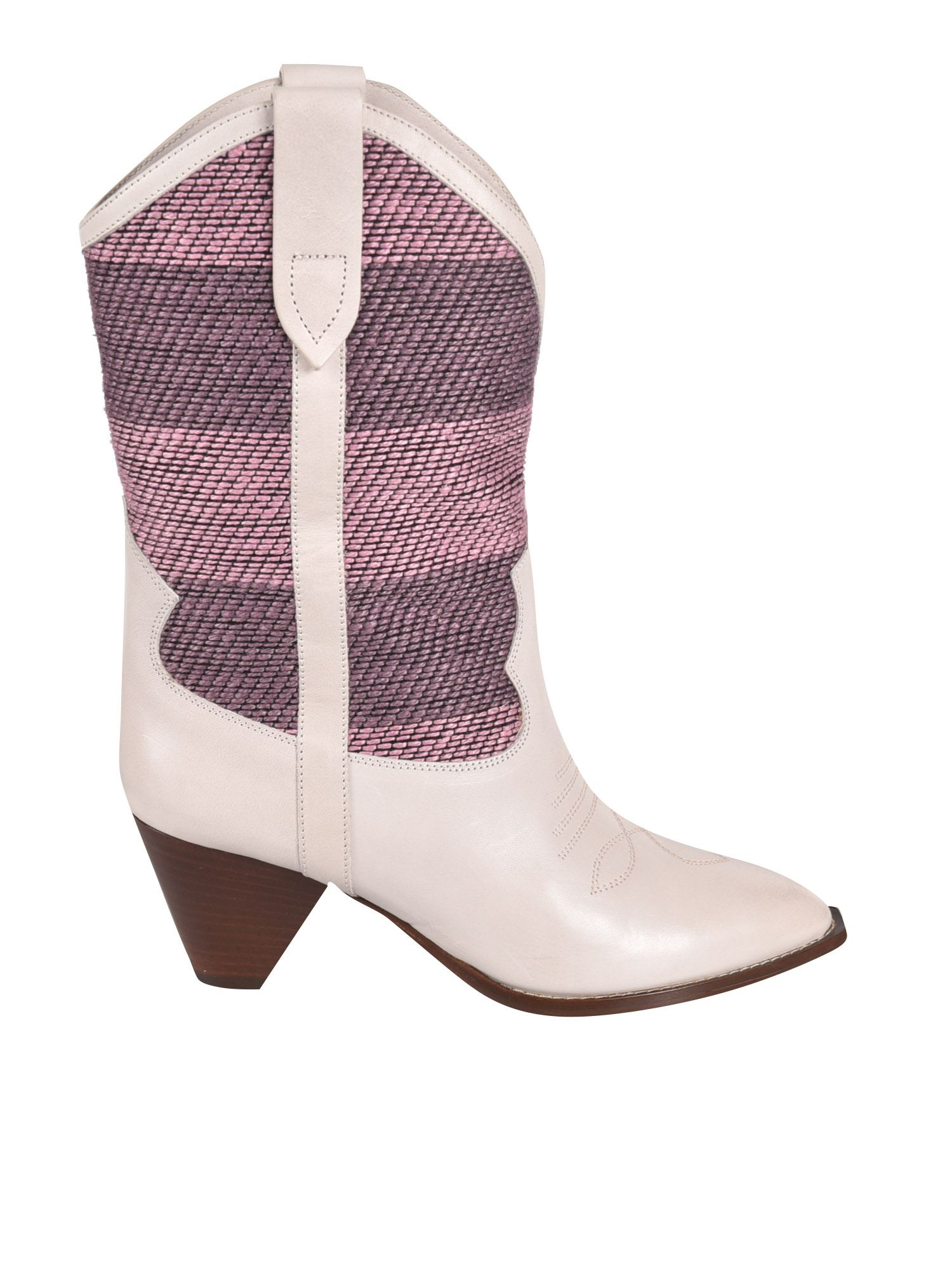 Isabel Marant Leathers ISABEL MARANT CONTRASTING LULIETTE BOOTS IN PINK