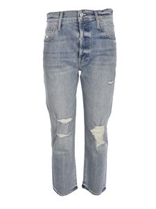 Mother - The Scrapper Ankle jeans in light blue