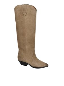 Isabel Marant - Denvee Texan boots in Taupe color