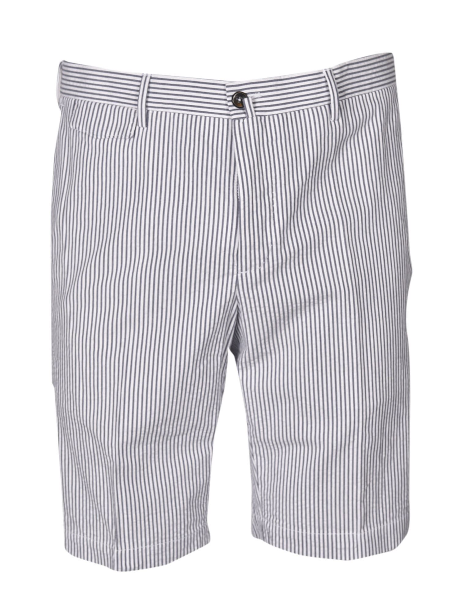 Pt01 Clothing STRIPED BERMUDA SHORTS IN BLUE AND WHITE