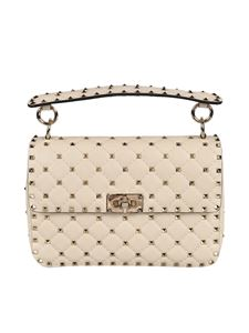 Valentino Garavani - Rockstud medium bag in light ivory