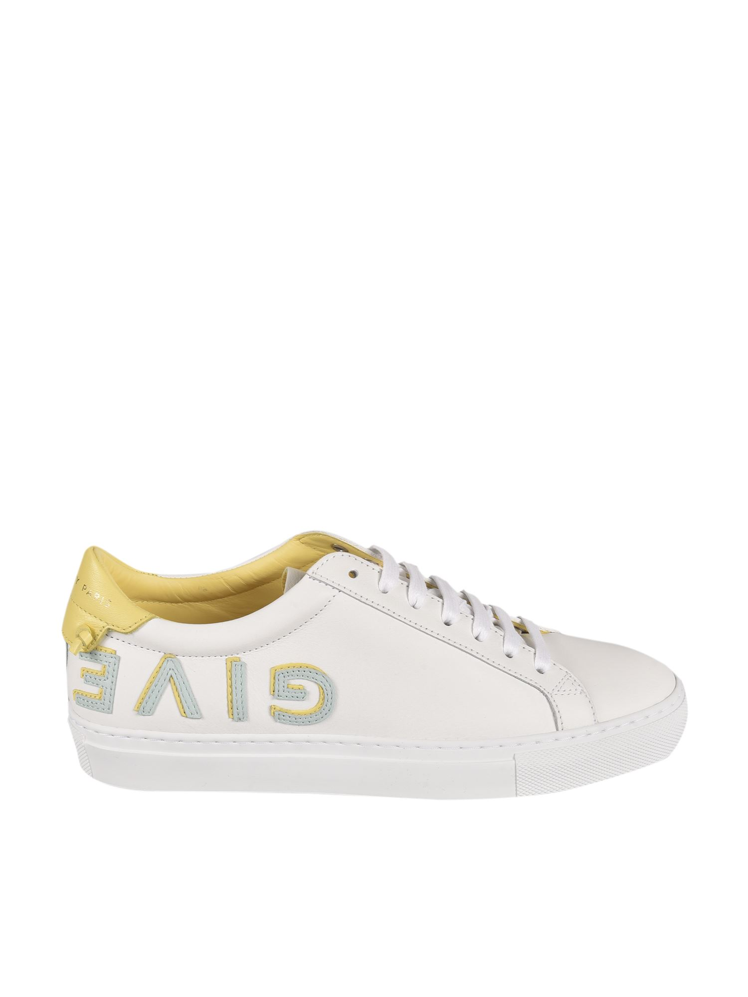 Givenchy URBAN STREET SNEAKERS IN WHITE AND YELLOW