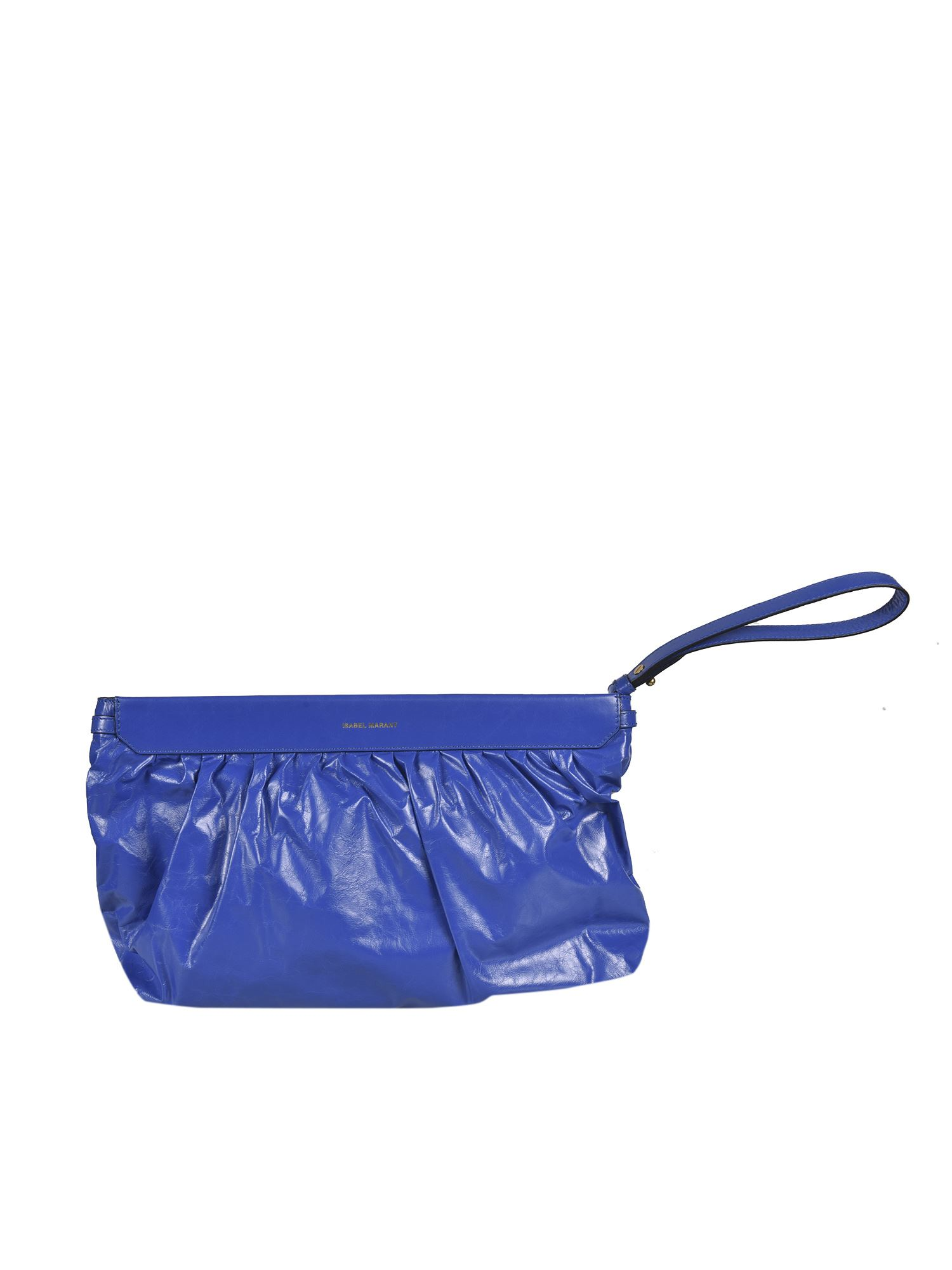 Isabel Marant ISABEL MARANT LUZ CLUTCH BAG IN BLUE