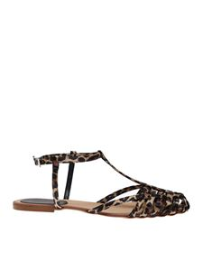 Anna F. - 512 sandals in animalier fabric