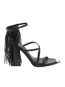 Ash - Fringed Icon sandals in black