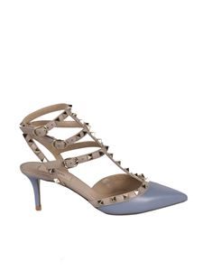 Valentino Garavani - Rockstud pumps in light blue and pink