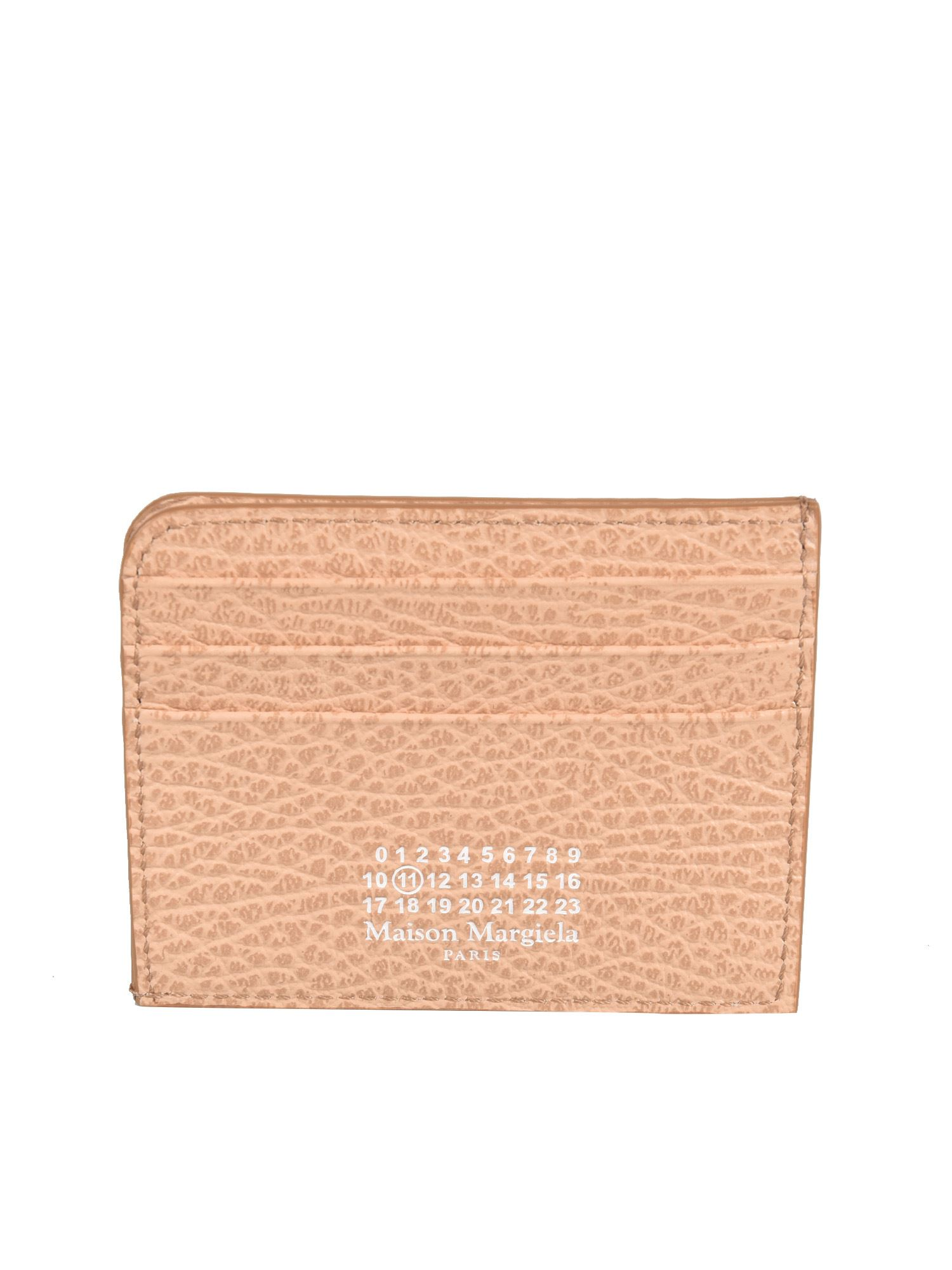 Maison Margiela LOGO CARD HOLDER IN ORANGE