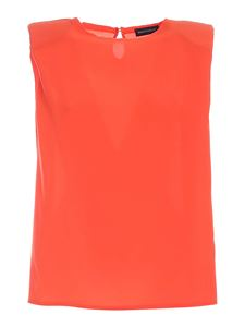 Paolo Fiorillo - Sleeveless blouse in coral red