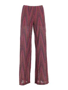 M Missoni - Lamé knitted pants in purple