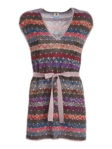 M Missoni - Lamé knitted multicolor top