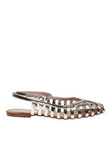 Anna F. - 513 Snake sandals in Platinum color