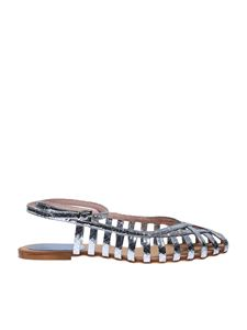 Anna F. - 513 Snake sandals in Cielo color