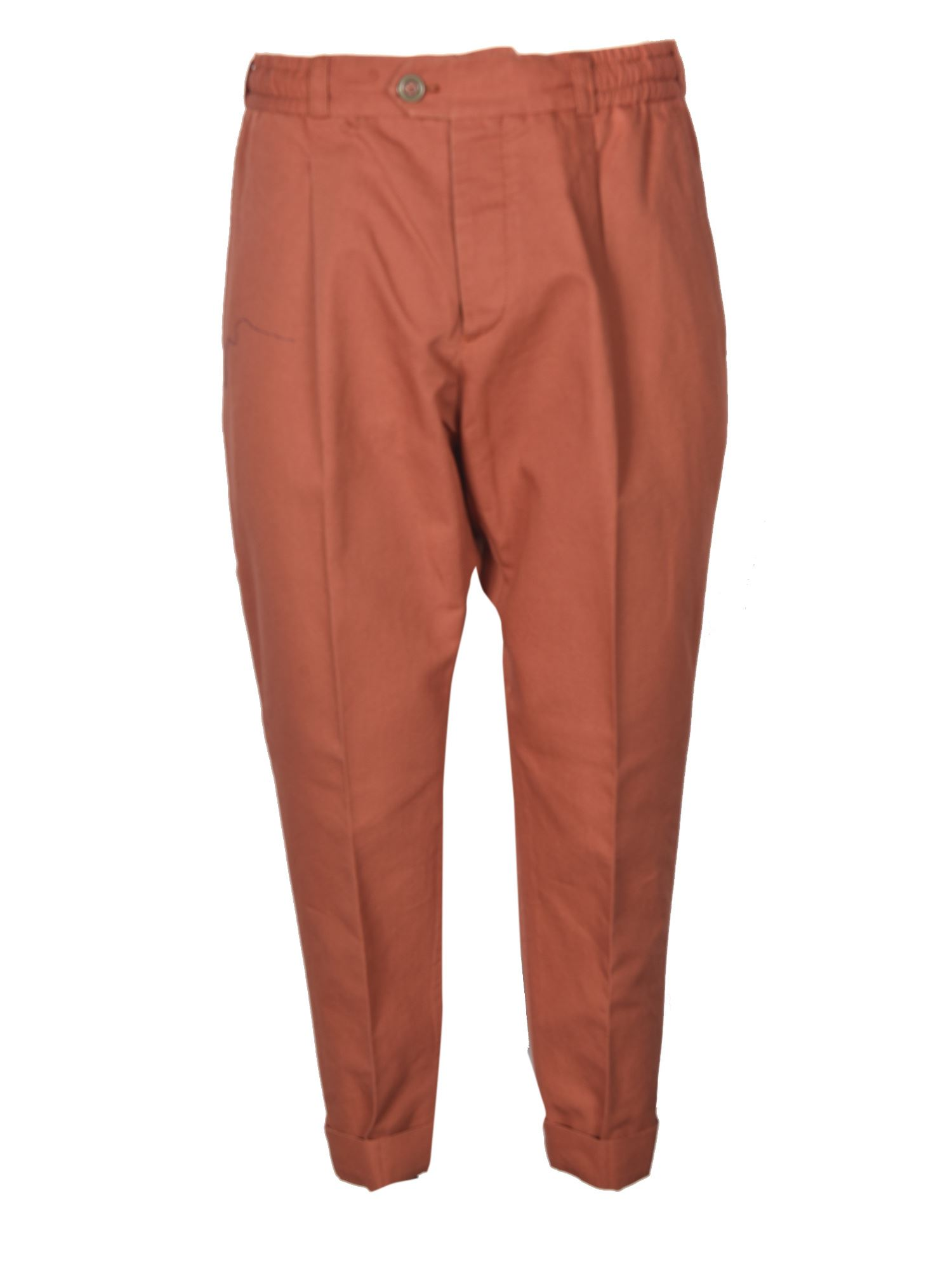 Pt Torino Casual Pants In Brick Color In Red