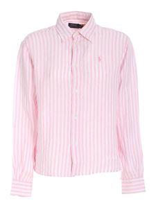 POLO Ralph Lauren - Logo striped shirt in pink and white
