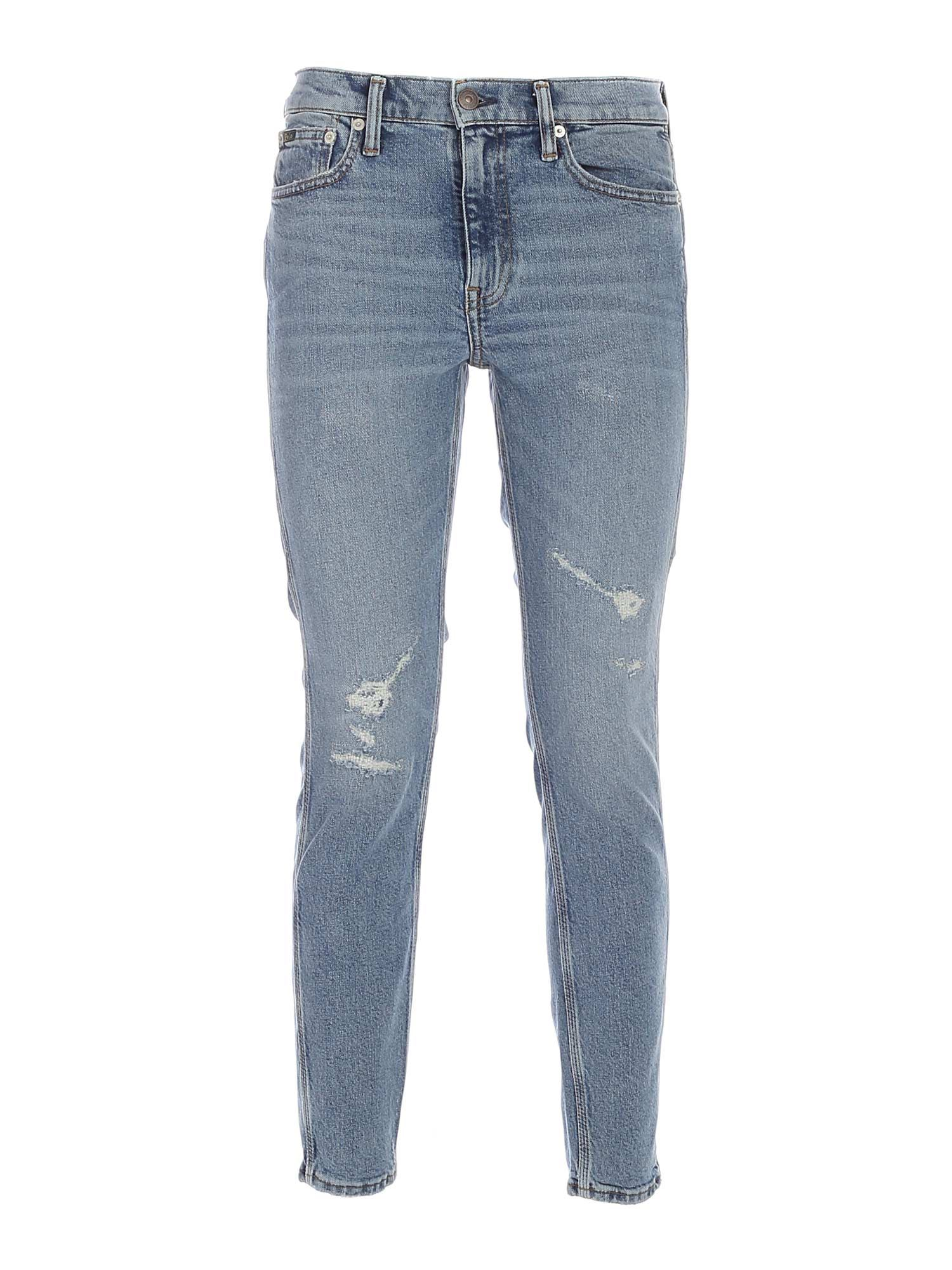 Polo Ralph Lauren The Tompkins Jeans In Faded Light Blue