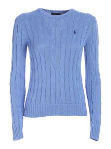 POLO Ralph Lauren - Logo embroidery sweater in light blue