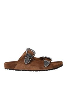 Anna F. - Decorative buckles slides in brown