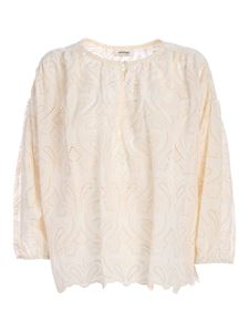 Ottod'Ame - Embroidered blouse in cream color