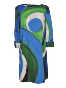 Gianluca Capannolo - Circles print dress in blue