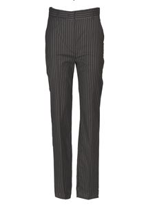 Sportmax - Pinstriped Lince trousers in blue
