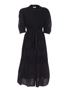 Ottod'Ame - Embroidered dress in black