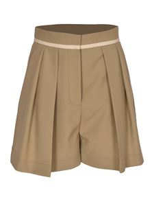 Stella McCartney - Front tucks bermuda shorts in beige