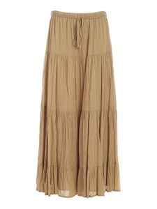 Ottod'Ame - Flounces skirt in beige