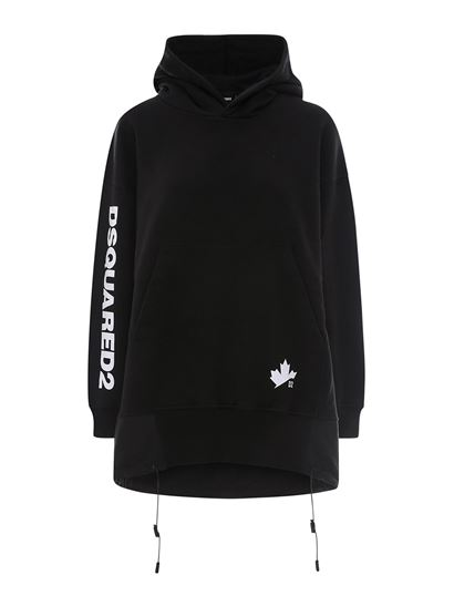 Dsquared2 - Cotton hoodie-dress in black