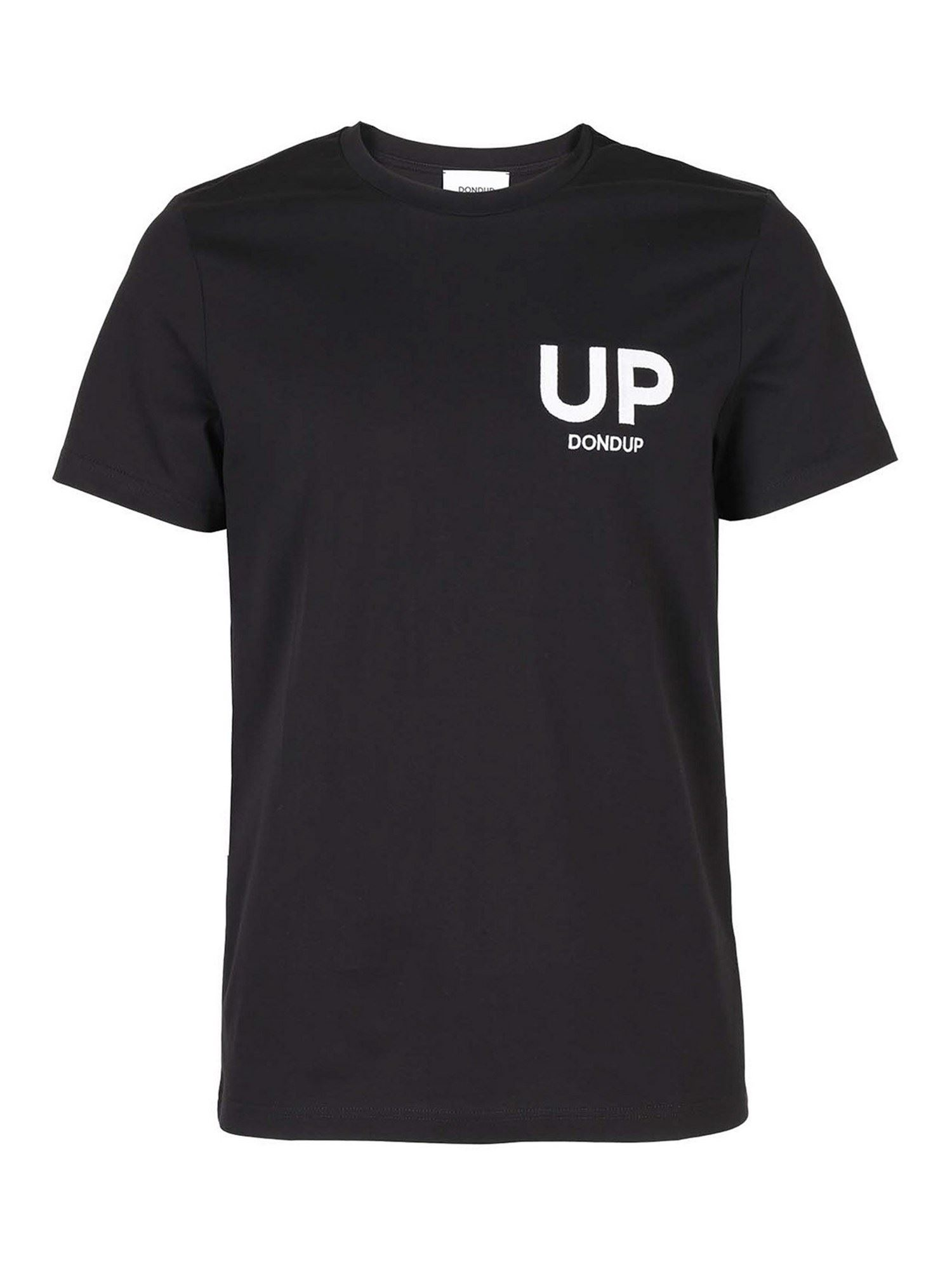 Dondup UP T-SHIRT IN BLACK