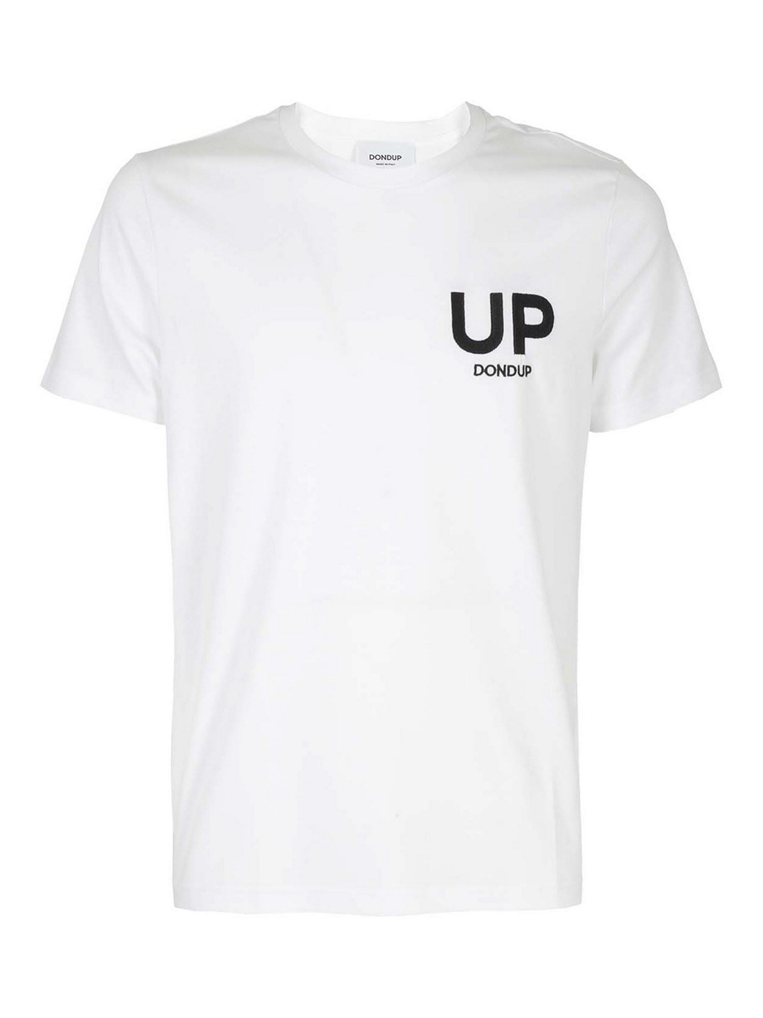 Dondup T-shirts UP T-SHIRT IN WHITE