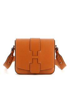 Hogan - Smooth leather crossbody bag in brown
